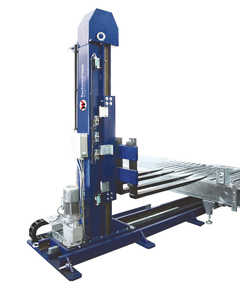 Pallet stacking device